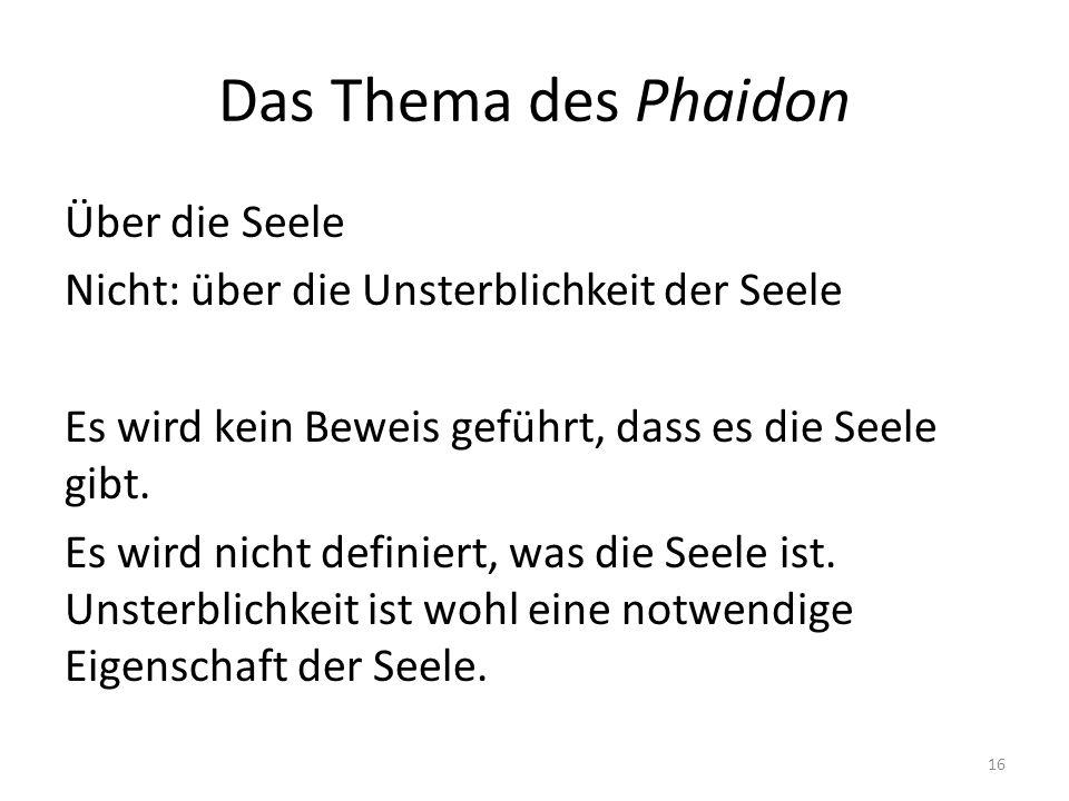 Das Thema des Phaidon