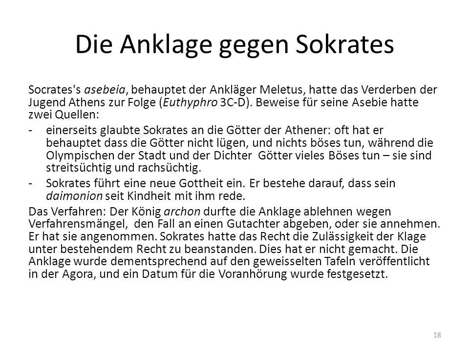 Die Anklage gegen Sokrates