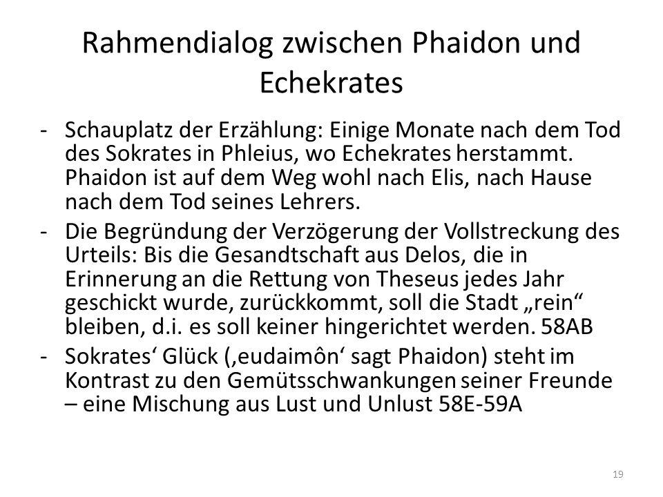 Rahmendialog zwischen Phaidon und Echekrates