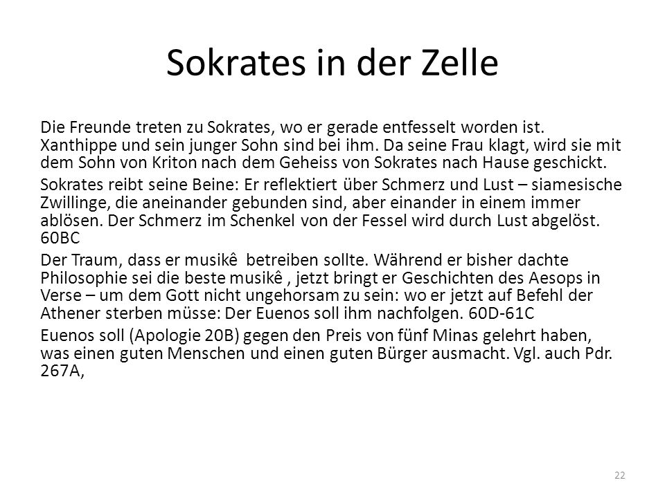Sokrates in der Zelle