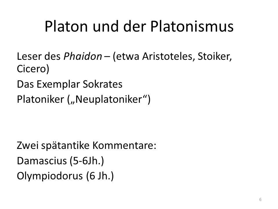 Platon und der Platonismus
