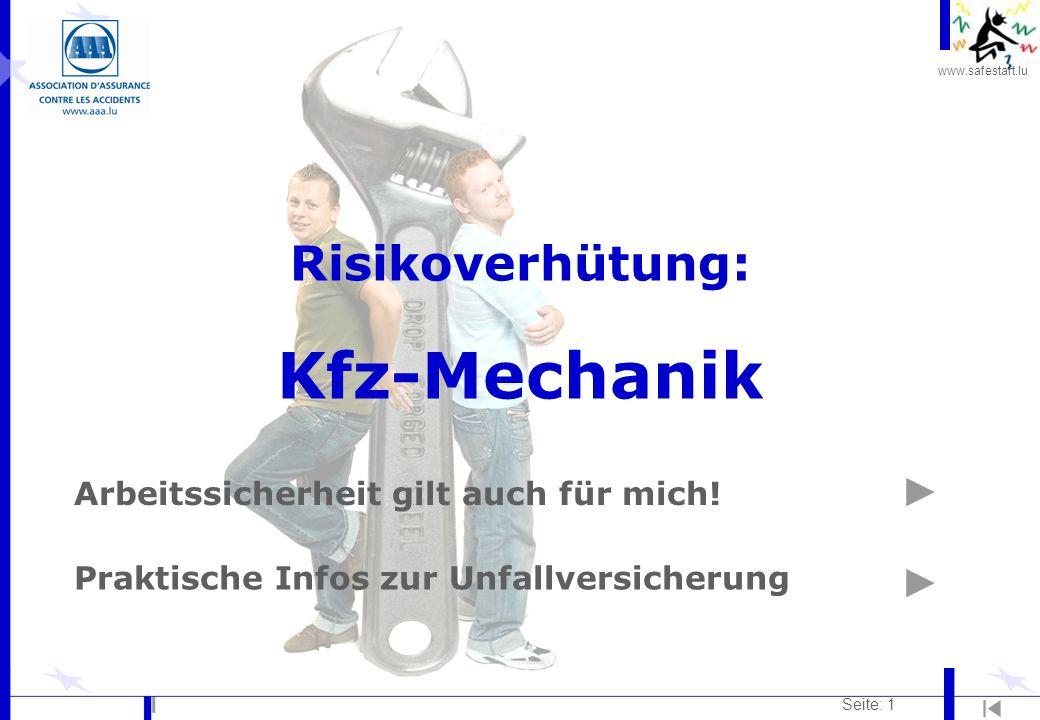 Risikoverhütung: Kfz-Mechanik