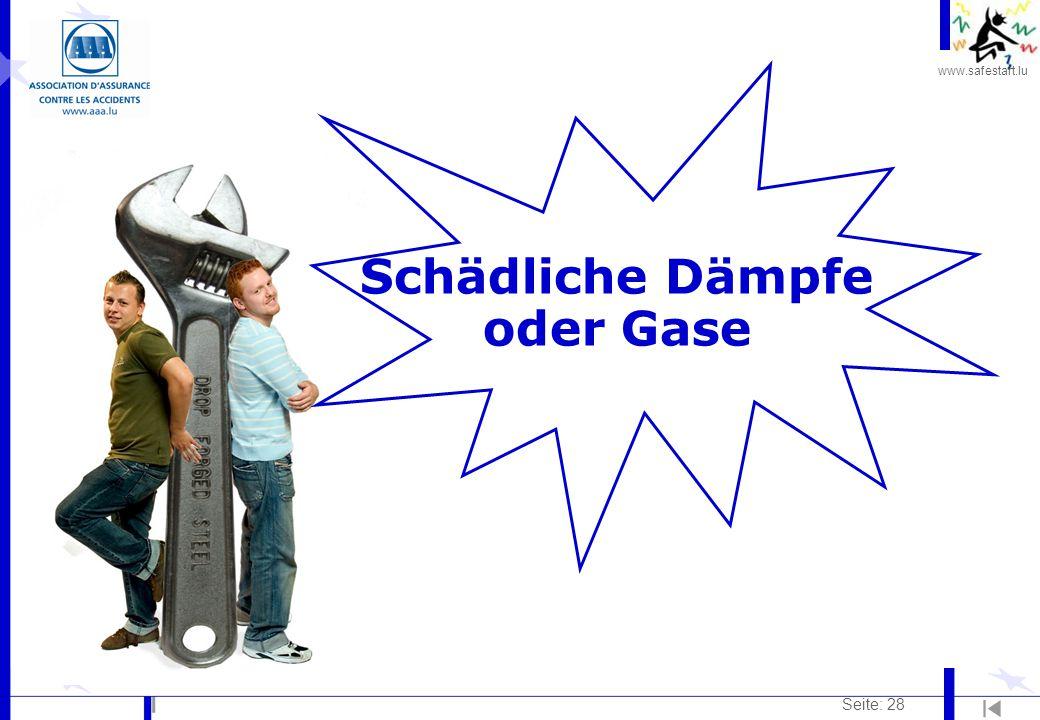 Schädliche Dämpfe oder Gase