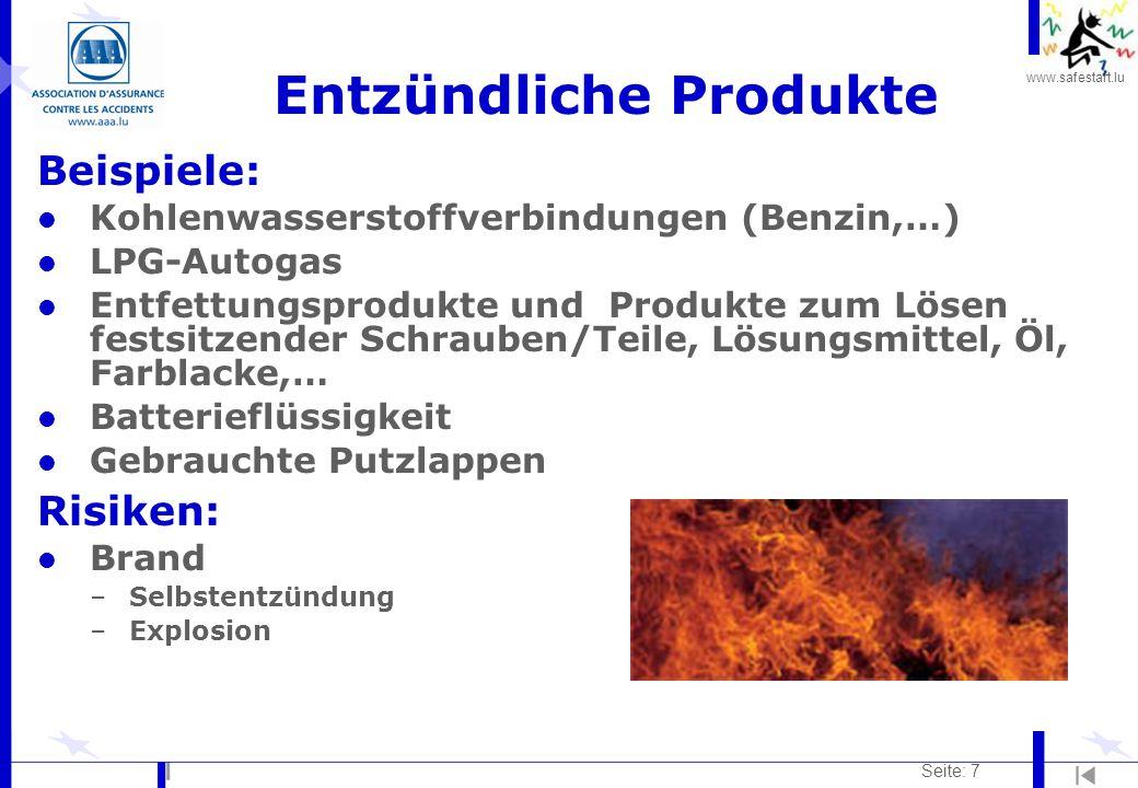 Entzündliche Produkte