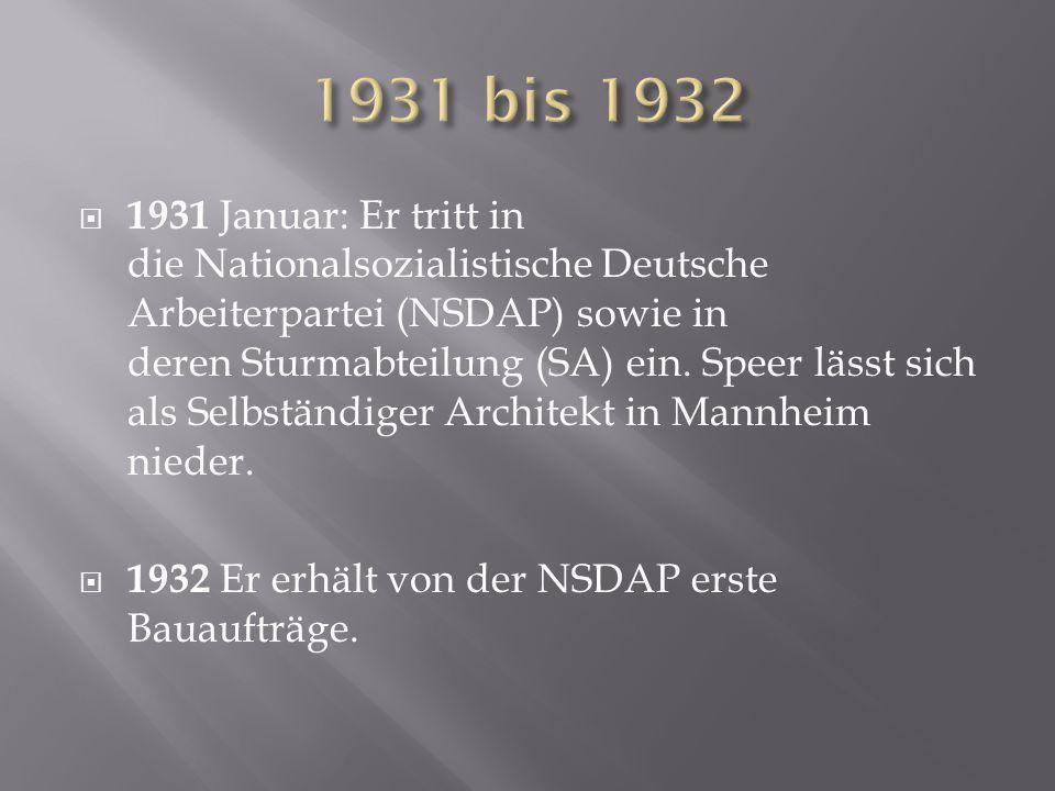 1931 bis 1932