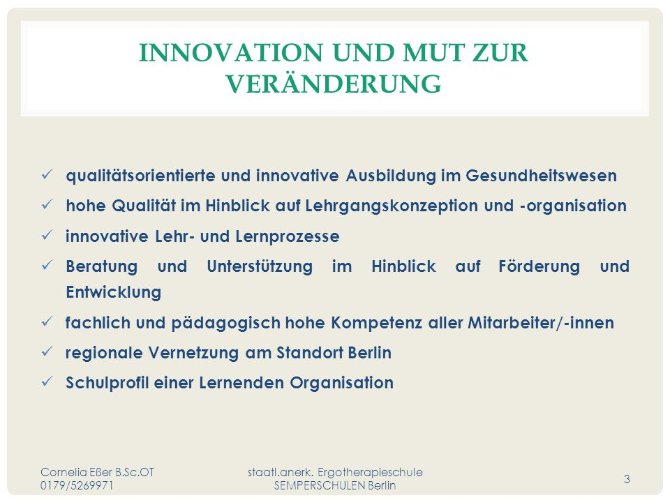 Innovation und Mut zur Veränderung