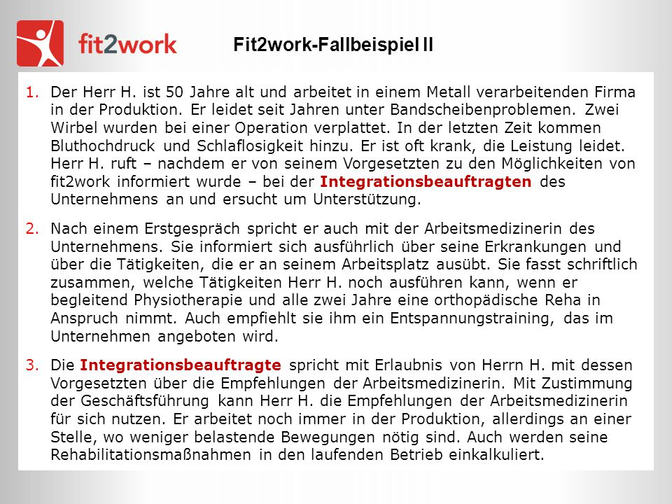 Fit2work-Fallbeispiel II