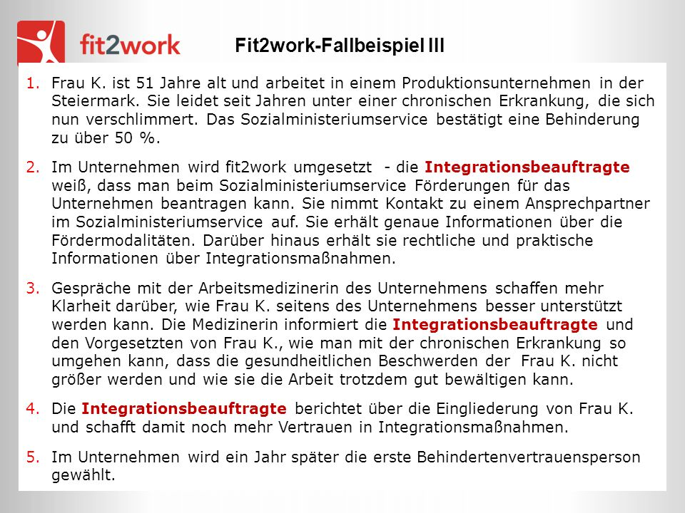 Fit2work-Fallbeispiel III