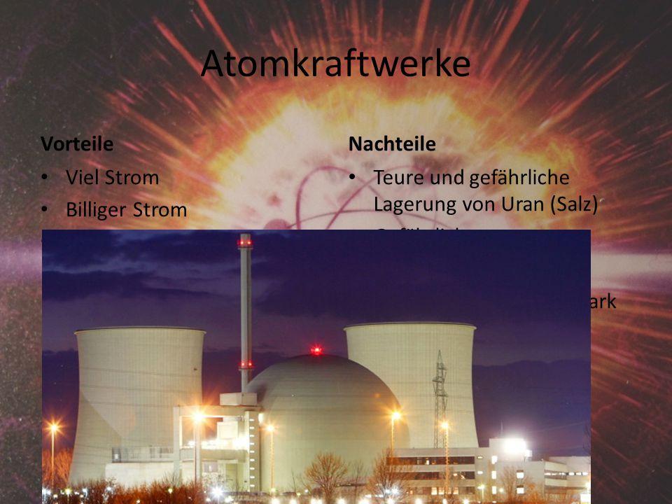 Atomkraftwerke Vorteile Nachteile Viel Strom Billiger Strom