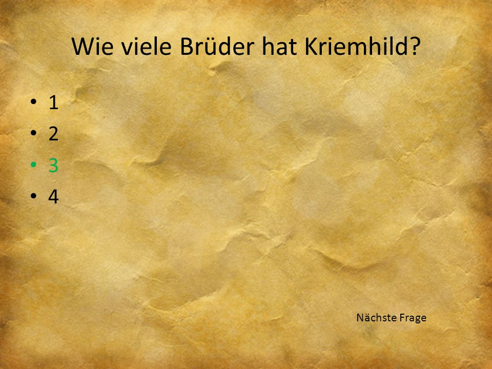Wie viele Brüder hat Kriemhild