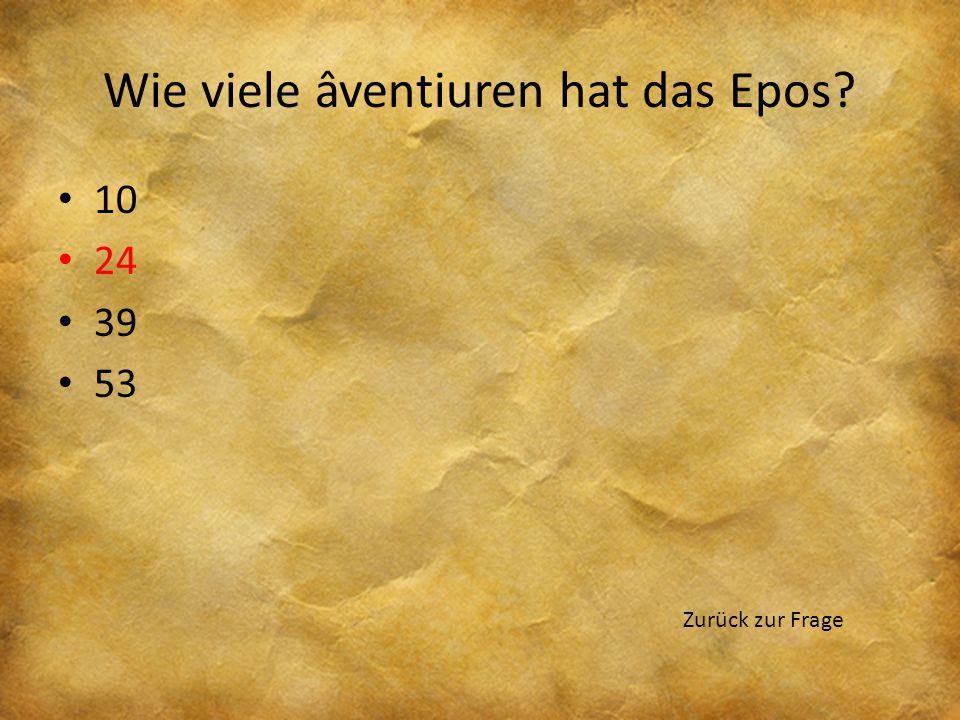 Wie viele âventiuren hat das Epos