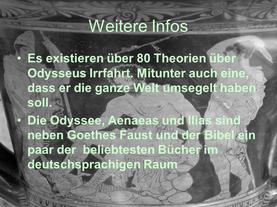 Weitere Infos Es existieren über 80 Theorien über Odysseus Irrfahrt. Mitunter auch eine, dass er die ganze Welt umsegelt haben soll.
