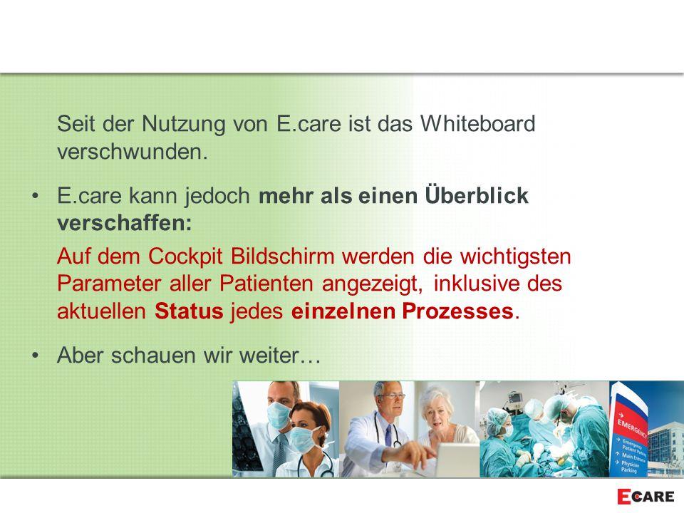 Seit der Nutzung von E.care ist das Whiteboard verschwunden.