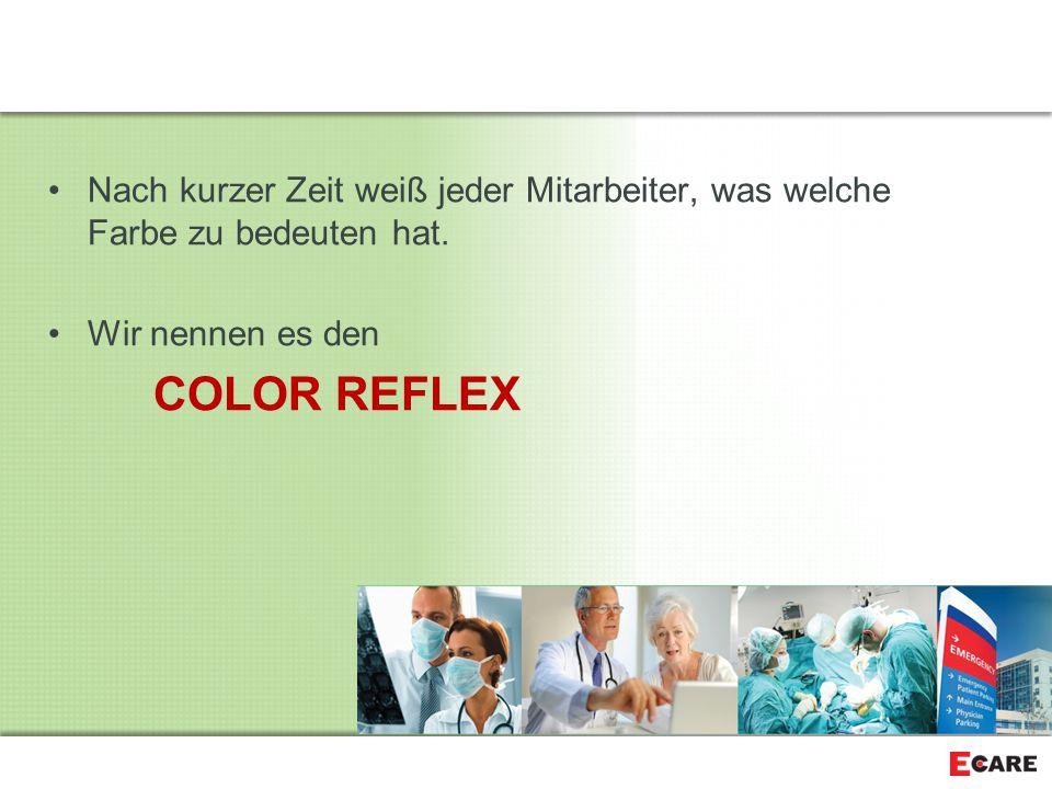 Nach kurzer Zeit weiß jeder Mitarbeiter, was welche Farbe zu bedeuten hat.