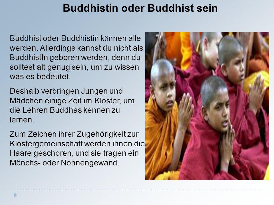 Buddhistin oder Buddhist sein