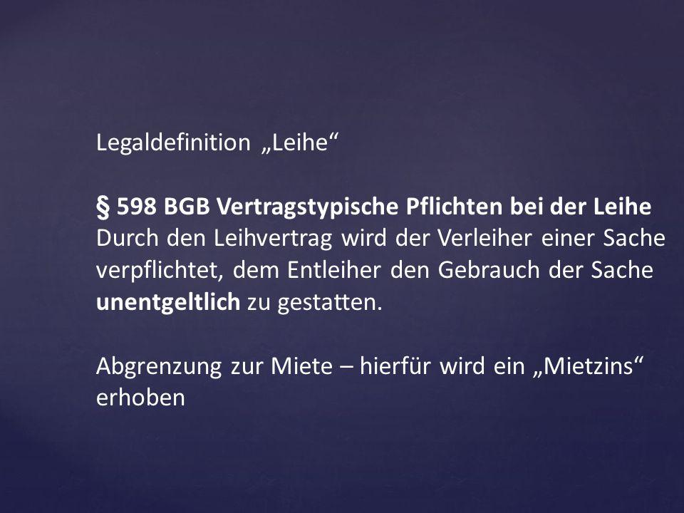 "Legaldefinition ""Leihe"