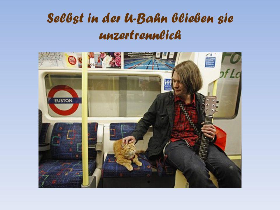 Selbst in der U-Bahn blieben sie unzertrennlich