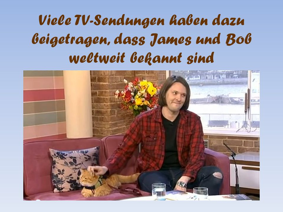Viele TV-Sendungen haben dazu beigetragen, dass James und Bob weltweit bekannt sind