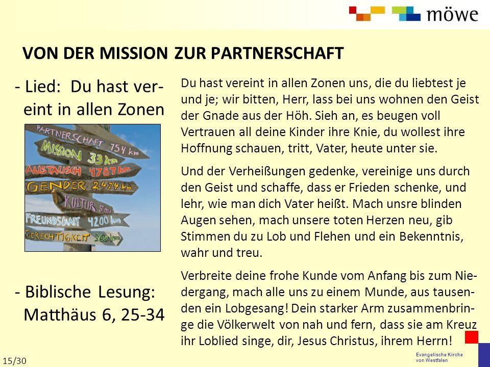 VON DER MISSION ZUR PARTNERSCHAFT