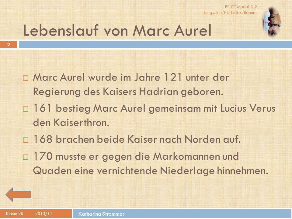 Lebenslauf von Marc Aurel
