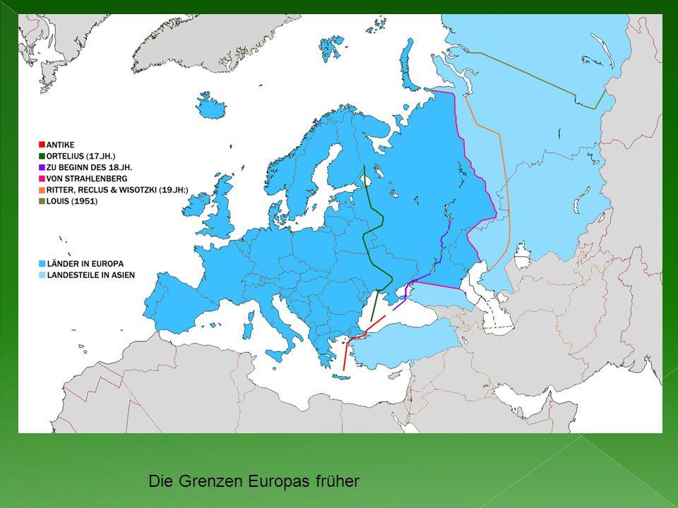 Die Grenzen Europas früher