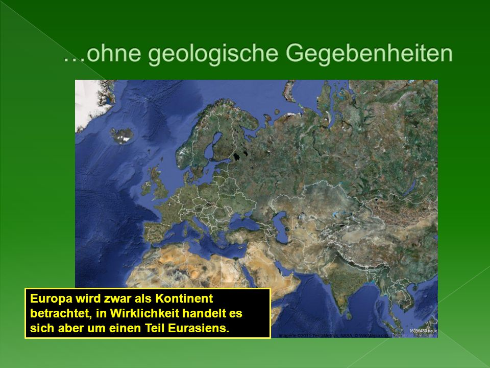 …ohne geologische Gegebenheiten