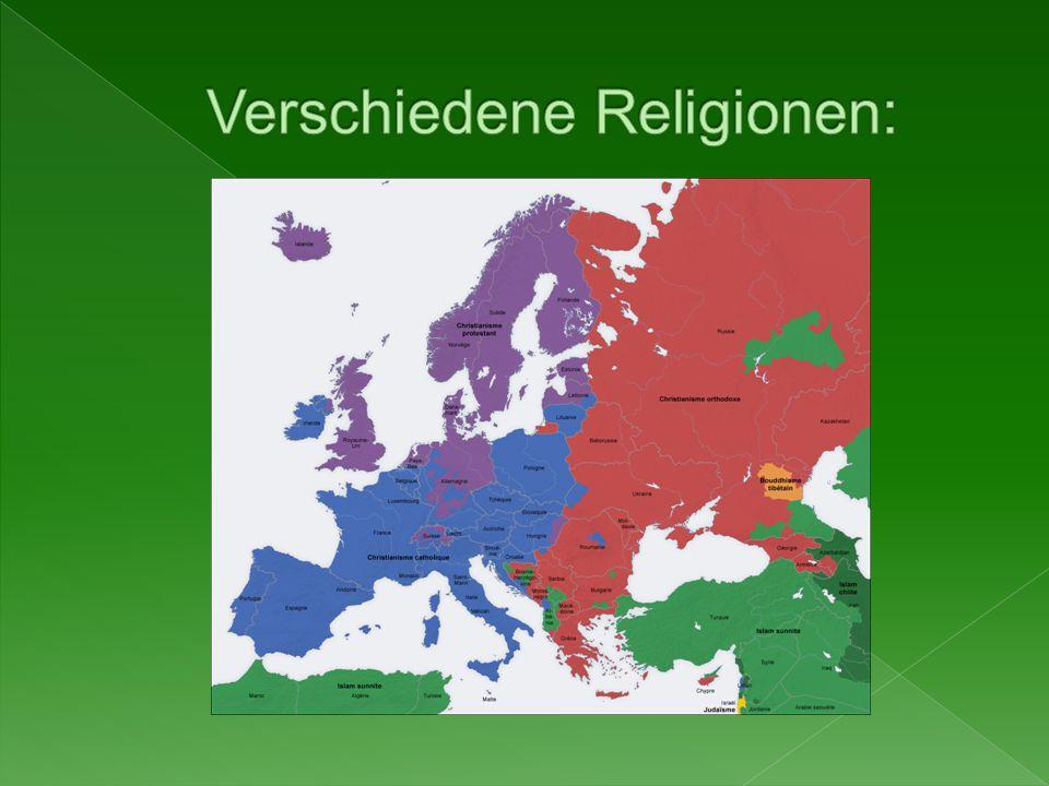 Verschiedene Religionen: