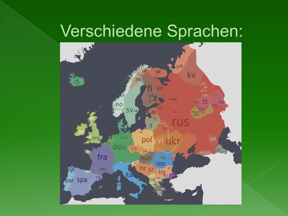 Verschiedene Sprachen: