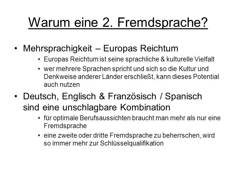 Warum eine 2. Fremdsprache