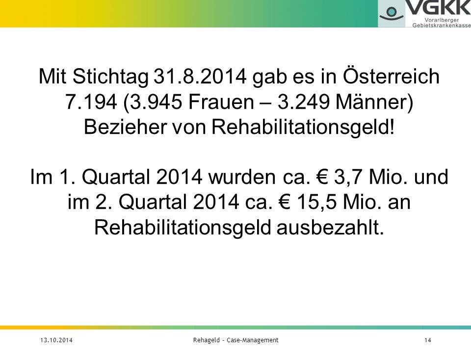 Rehageld - Case-Management