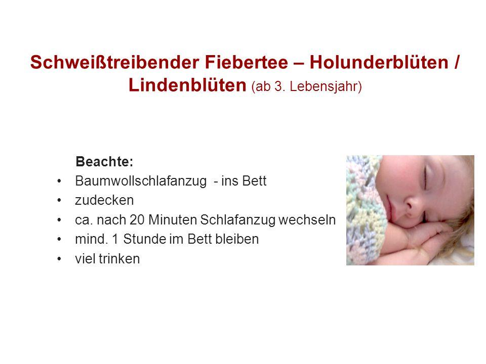 Schweißtreibender Fiebertee – Holunderblüten / Lindenblüten (ab 3