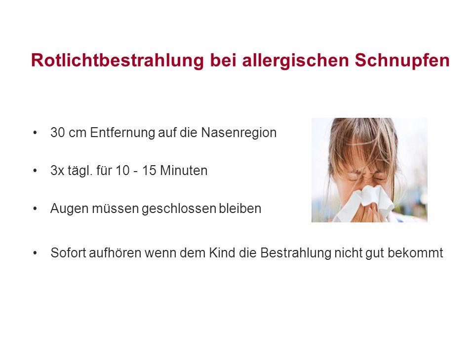 Rotlichtbestrahlung bei allergischen Schnupfen