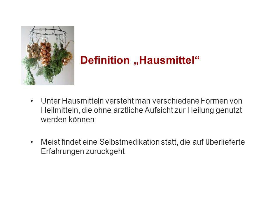 """Definition """"Hausmittel"""