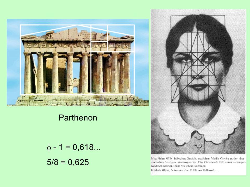 Parthenon f - 1 = 0,618... 5/8 = 0,625