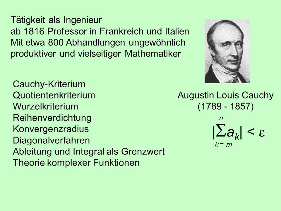 Augustin Louis Cauchy (1789 - 1857)
