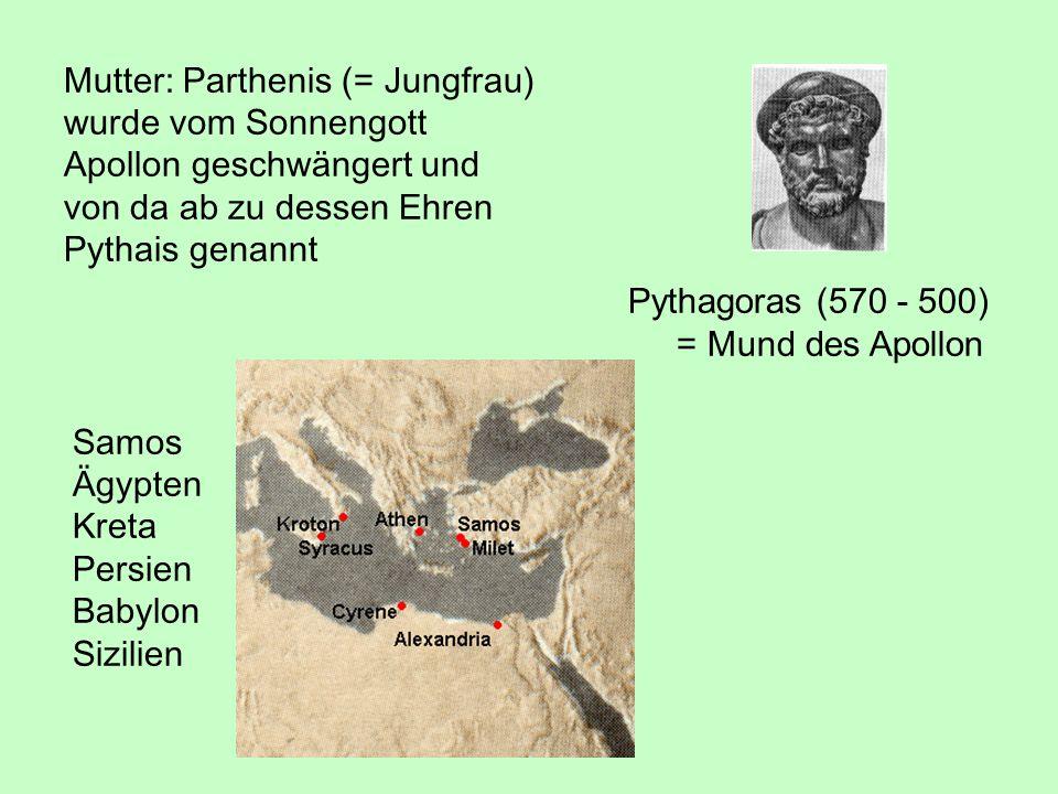 Mutter: Parthenis (= Jungfrau)
