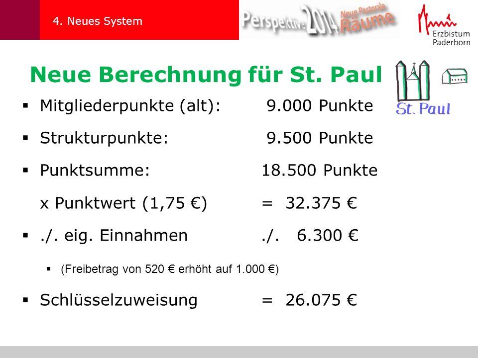 Neue Berechnung für St. Paul