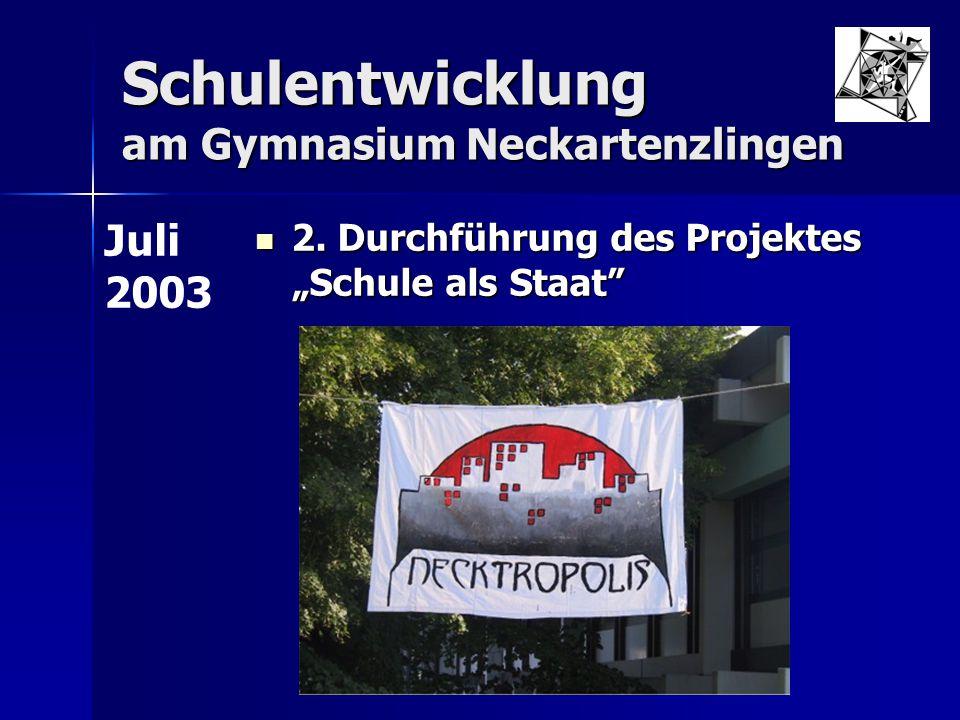 Schulentwicklung am Gymnasium Neckartenzlingen