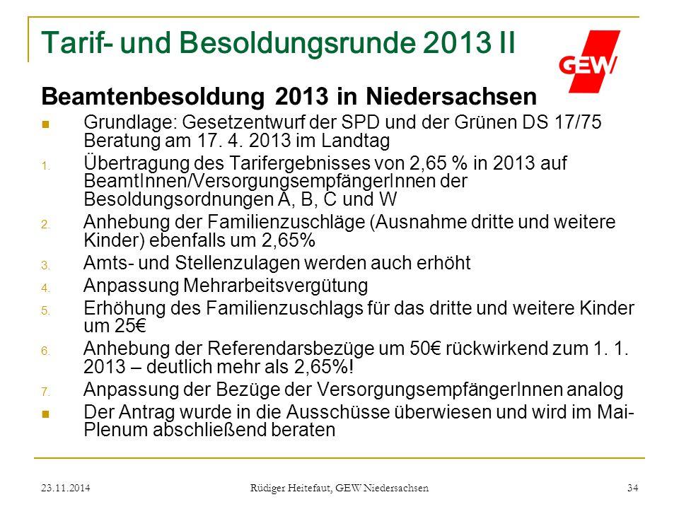 Tarif- und Besoldungsrunde 2013 II