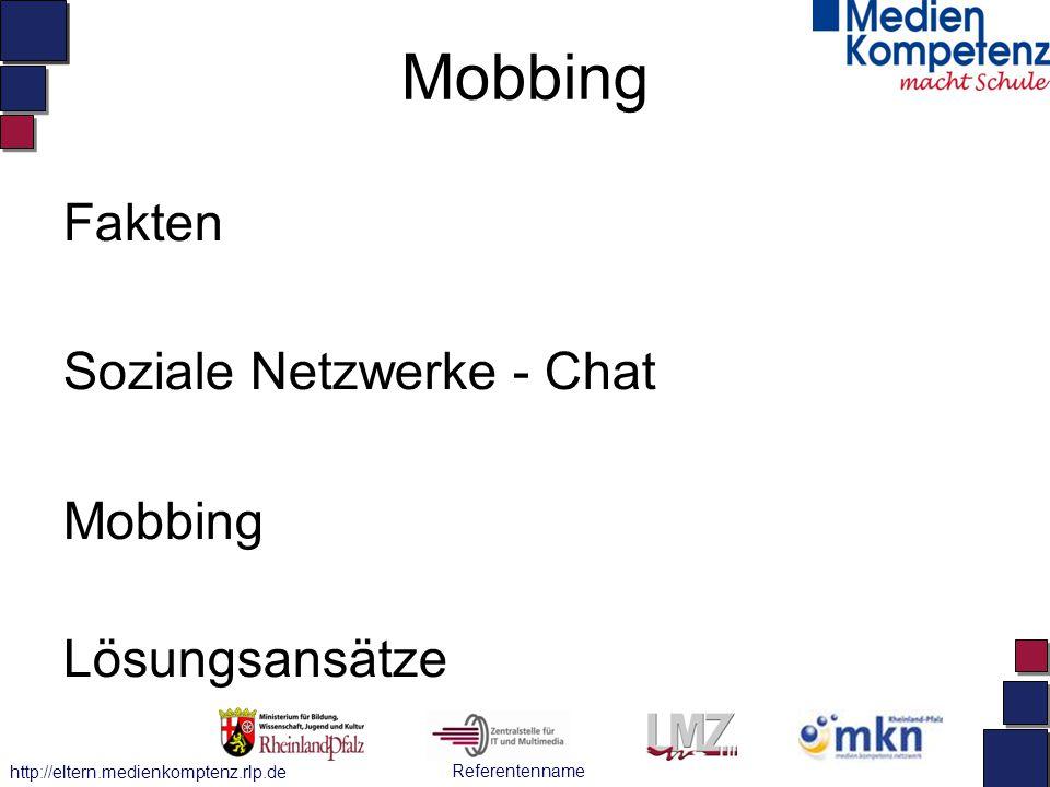 Mobbing Fakten Soziale Netzwerke - Chat Mobbing Lösungsansätze