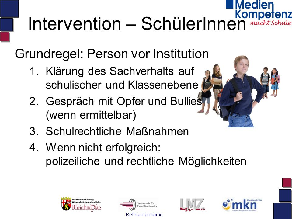 Intervention – SchülerInnen