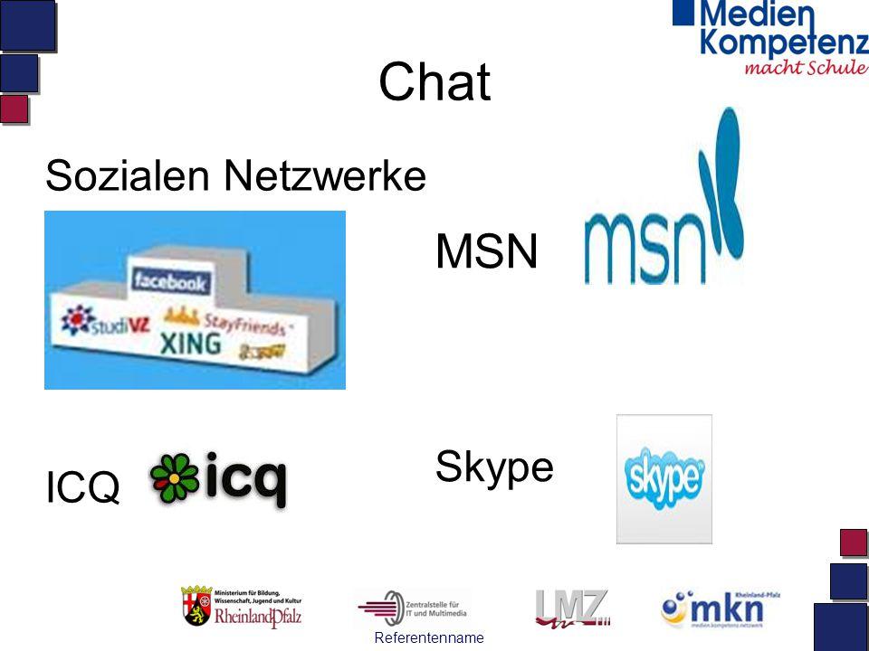 Chat MSN Skype Sozialen Netzwerke ICQ