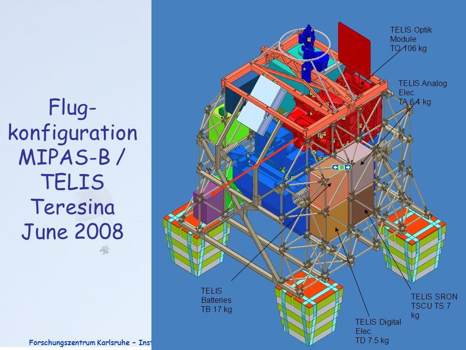 Flug-konfiguration MIPAS-B / TELIS Teresina June 2008