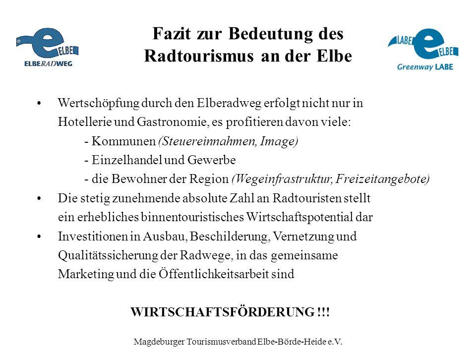 Fazit zur Bedeutung des Radtourismus an der Elbe