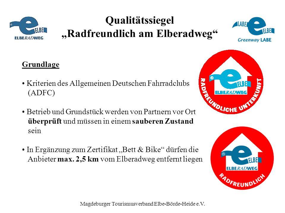 """Qualitätssiegel """"Radfreundlich am Elberadweg"""