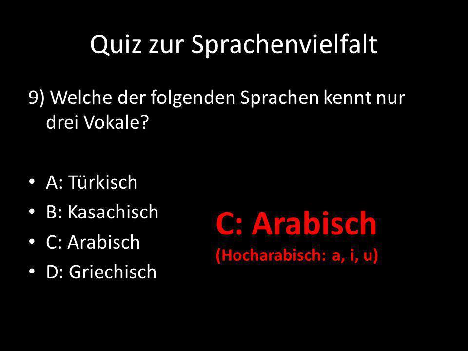 Quiz zur Sprachenvielfalt