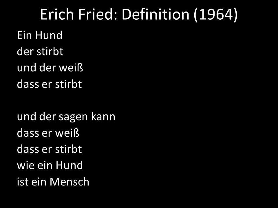 Erich Fried: Definition (1964)