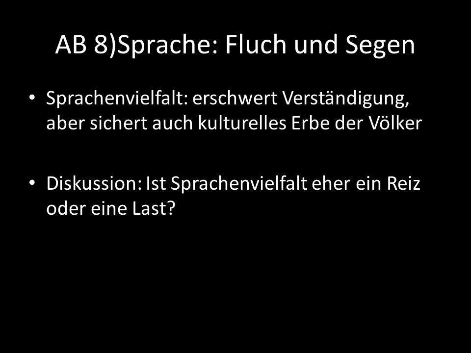 AB 8)Sprache: Fluch und Segen