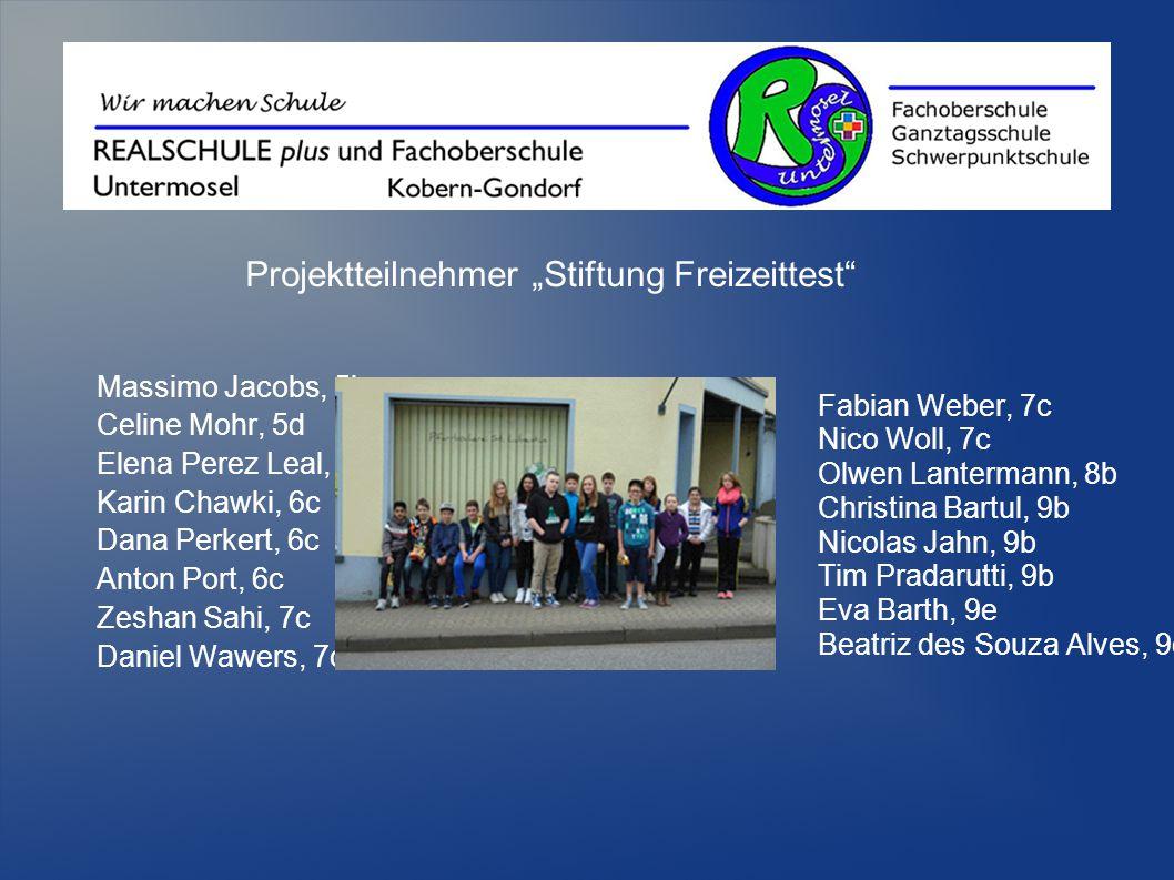 """Projektteilnehmer """"Stiftung Freizeittest"""