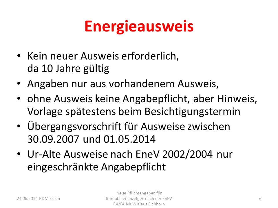Energieausweis Kein neuer Ausweis erforderlich, da 10 Jahre gültig